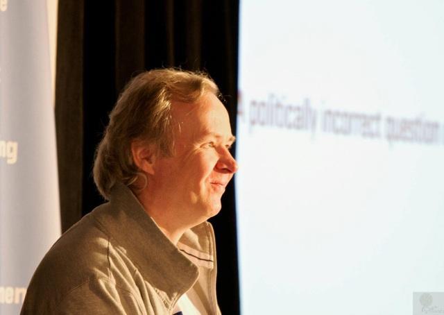 Happy panelist Monty