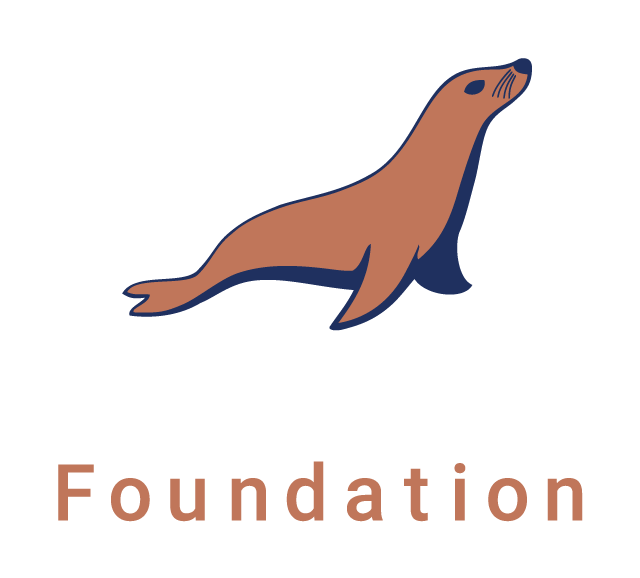 MariaDB Foundation Logo. Vertical orientation. For use over dark backgrounds.