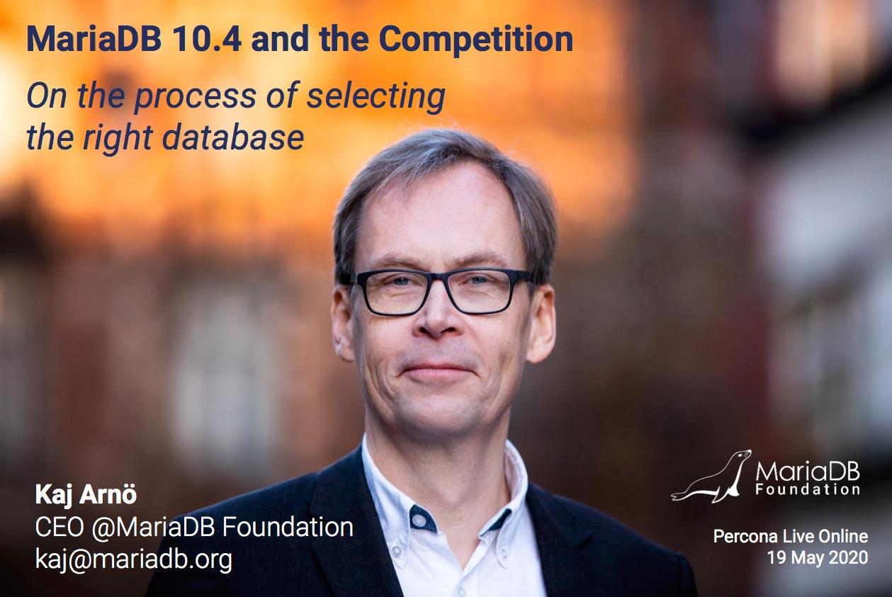 MariaDB 10.4 and the Competition